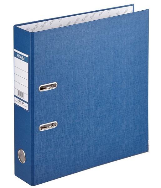 Папка-регистратор с покрытием PVC и металлической окантовкой собранная 80 мм А4 темно-синяя